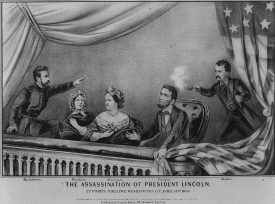 The assassination of President Lincoln at Ford's Theatre Washington D.C. April 14th 1865. | Image courtesy of Library of Congress