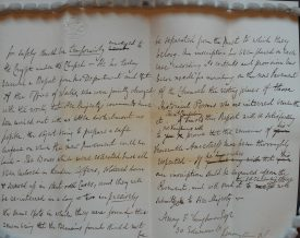 Letter from Ragley Hall on behalf of the Lord Chamberlain's Office to Mr Vaughan, pages two and three. | Warwickshire County Record Office reference CR114A/674/3
