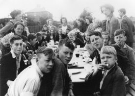 VE Day Party in Hampton Road. | Photograph from Knowle Local History Society Image Library.