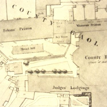 Plan of the County Gaol showing the Treadmill | Board of Health map 1850s reference CR 1618