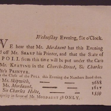 The Election of 1774 in the County of Warwick
