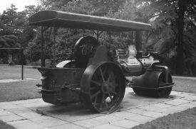 The steam roller in Victoria Park, early 1970s. | Photograph copyright Derek Billings.
