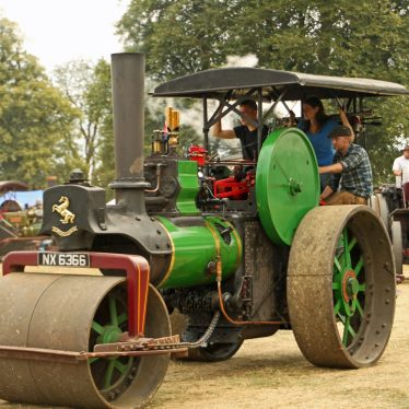 Steam roller at Astle Park Traction Engine Rally, Chelford, Cheshire, 2015. | Photo courtesy of David Bloor.