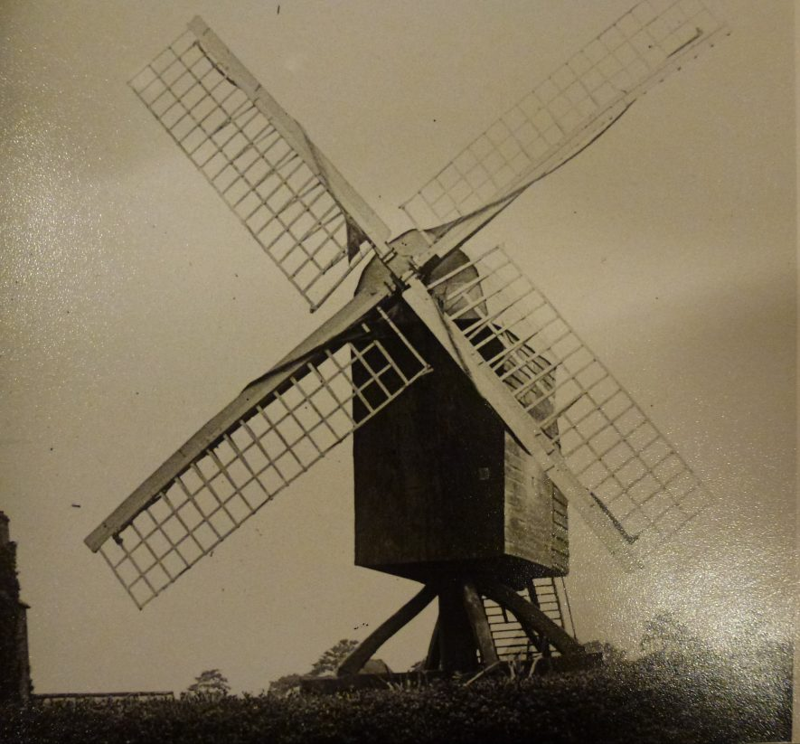 One of two post mills in Fenny Compton | Warwickshire County Record Office Ref. PH1035/F4976