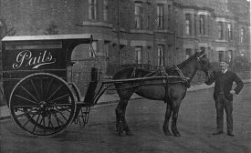 The Pails horse drawn van. | Image supplied by Doris Pails.