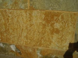 Fossil worm burrows in Hornton Stone, Shire Hall, Warwick | Warwickshire Museum