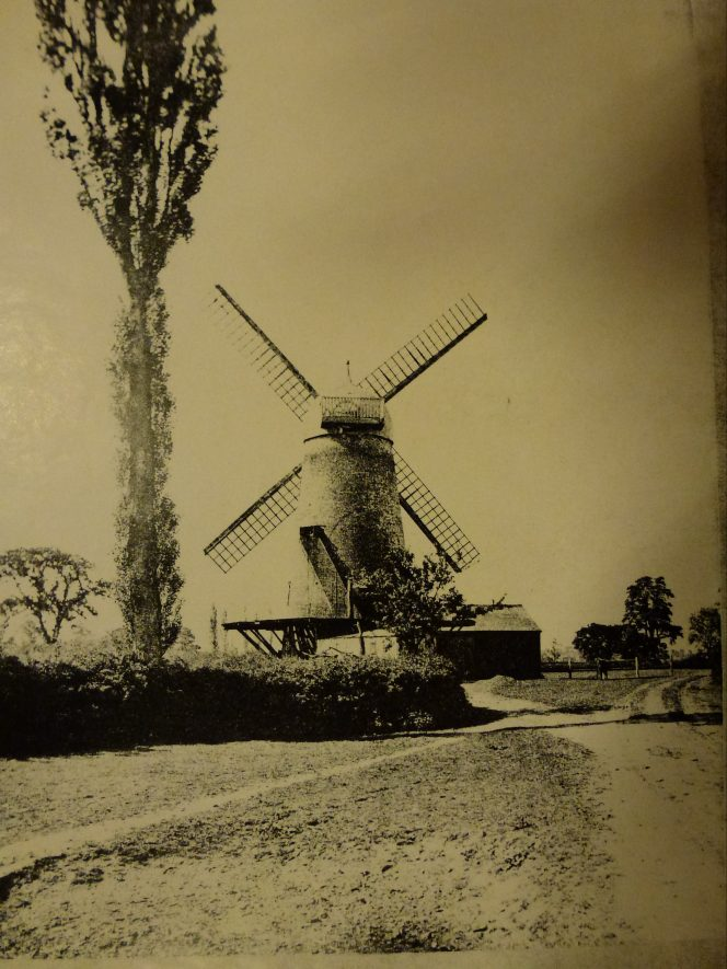 Wolston Windmill as photographed in 1895 | Warwickshire County Record  Office Re.  PH1035  A6958
