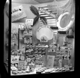Shows a range of items including newly available frozen foods such as Young's fish and Walls ice cream | Warwickshire County Record Office reference  PH(N), 600/938/4.