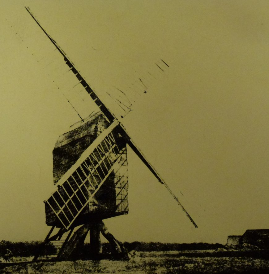Edgehill Windmill as photographed in 1890 | Warwickshire County Record Office Ref. PH1035  A6953