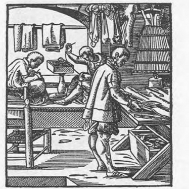 A tailor from Das Ständebuch (The Book of Trades) by Jost Amman. | Released by the British Museum on the W3C open data standard.