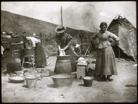 Wash Day at a Gypsy Camp Birmingham 1905 | Warwickshire County Record Office reference PH1115/Box 1/LB1/519