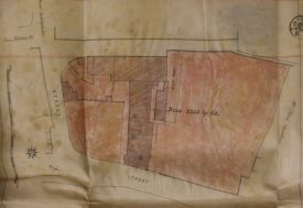 A rather basic plan found within the deeds. | Warwickshire County Record Office reference CR4723.