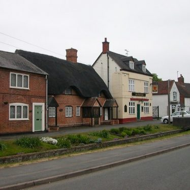 The brook separated the Red Lion and cottages from Main Street.    Image © Ian Rob. This work is licensed under the Creative Commons Attribution-Share Alike 2.0 Generic Licence.