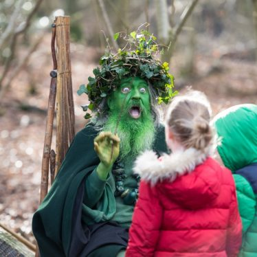 The Wild Man of the Woods at the Princethorpe Woodlands Open Day | Lee Griffiths