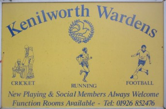 Kenilworth Wardens Sports Club sign, now at Glasshouse Lane