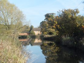 View of the old school at Little Packington from the ford (October 2015) | Rachael Marsay