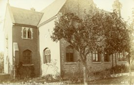This is a photograph showing the brick convent building in St Mary's Priory. | Image courtesy of Princethorpe College
