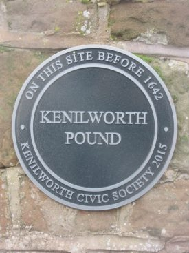 The Pound Plaque: On this site before 1642/Kenilworth Pound/Kenilworth Civic Society | Sam Sexton