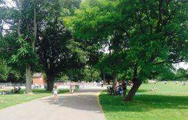 Summer day by the paddling pool and play area.   Image supplied by Louise Jennings