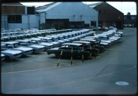 A number of Triumph bodies waiting for finishing. September 1978. | Photo copyright Graham Richardson