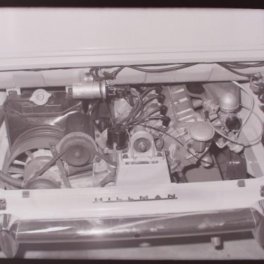 Photograph of close-up of Imp engine on launch week, May 3rd 1963.   Warwickshire County Record Office reference PH 882/2/1248