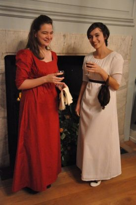 Two young ladies very pleased with their (authentically free) negus punch! | Photograph by Fran Godwin, Unlocking Warwick