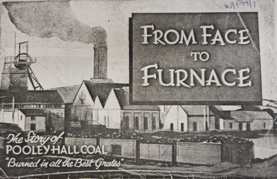Front cover of 'From Face to Furnace: The Story of Pooley Hall Coal', published 1930s. | Warwickshire County Record Office reference CR 4210/18