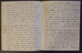 Footnotes are added throughout the diary | Warwickshire County Record Office CR3722