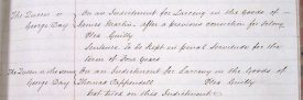 Michaelmas Quarter Session 1854 record of George Day. | Warwickshire County Record Office reference QS39/21.