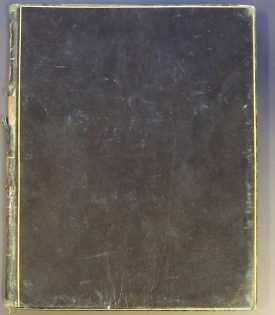 Like many diaries, John Sumner's diary is an unassuming volume - just a plain black cover | Warwickshire County Record Office CR3722
