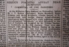 Newspaper report of the affray! | Warwickshire County Record Office reference Z1051(sm)