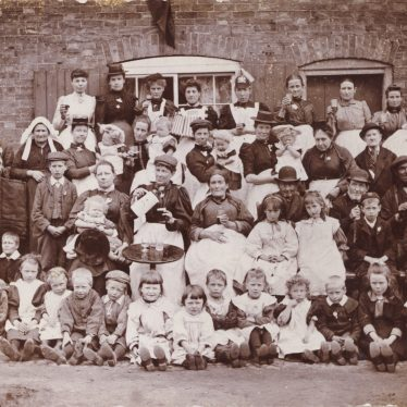 Wharwick. Photo of a Street Party c1902