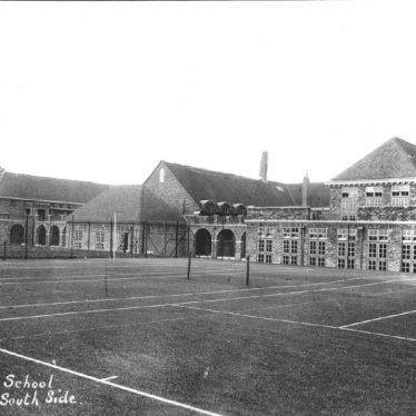 South side of Rugby High School, 1930s, before its move to the present site. | Warwickshire County Record Office reference PH352/152/95