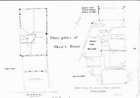Floor Plans of Oken's House, 20 Castle Street, Warwick | Plan by Steven Wallsgrove, 1988