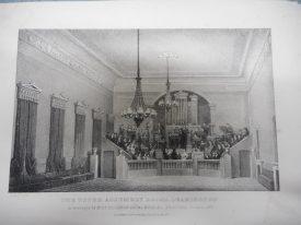 The Ballroom of the Upper Assembly Rooms in 1833 | Warwickshire County Record Office reference CR 351/193.
