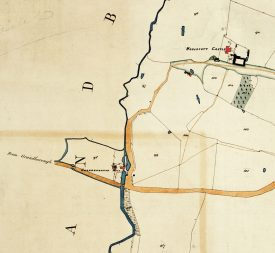 An image from the Grandborough tithe map showing the mill | Warwickshire County Record Office reference CR 569/121B