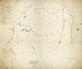 An image of the Grandborough tithe map | Warwickshire County Record Office reference CR 569/121B