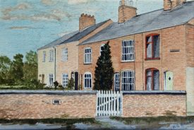 Painting of Avon Cottages by Margaret Brockbank | Family painting courtesy of Linda Doyle (Brockbank)