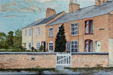Painting of Avon Cottages, Clifton, Jigsaw Puzzle (100 Pieces)
