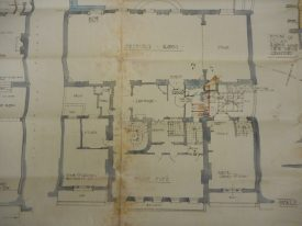 Plan of 1926 showing the ballroom. | Warwickshire County Record Office reference  CR 2487/Z191