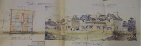 A building plan from the Adkins collection | Warwickshire County Record Office reference CR3554