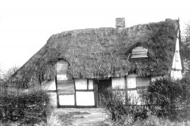 Little Jim's cottage, Polesworth, in a state of dereliction. December 1970. | Warwickshire County Record Office reference PH108/3