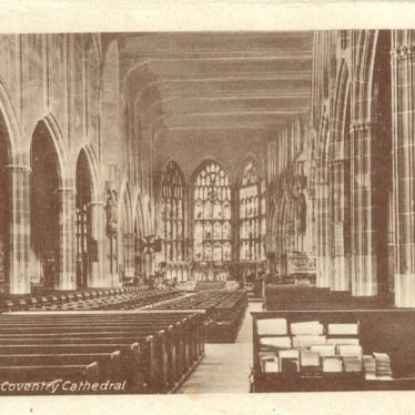 The inside of Coventry cathedral, pre-war. | Image courtesy of Eddie Richardson