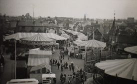 Mop fair, Rother Street. Stratford-upon-Avon, 1952. | Warwickshire County Record Office reference PH 352/172/389