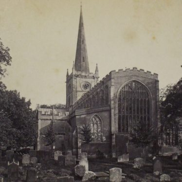 Holy Trinity church from the East, Stratford-upon-Avon. | Warwickshire County Record Office reference PH 352/172/425