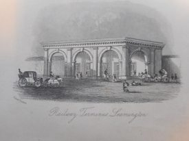 The Original LNWR station at Leamington, around 1850. | Warwickshire County Record Office reference PV Lea Vic1