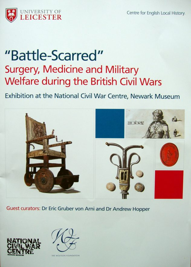'Battle-Scarred' Surgery, Medicine and Military Welfare during the British Civil Wars; picture of wheelchair and other items | Image courtesy of Maureen Harris