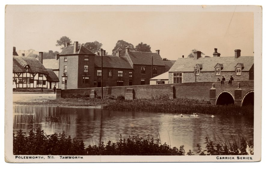 A view of Polesworth from the river. | Warwickshire County Record Office reference PH350/1685