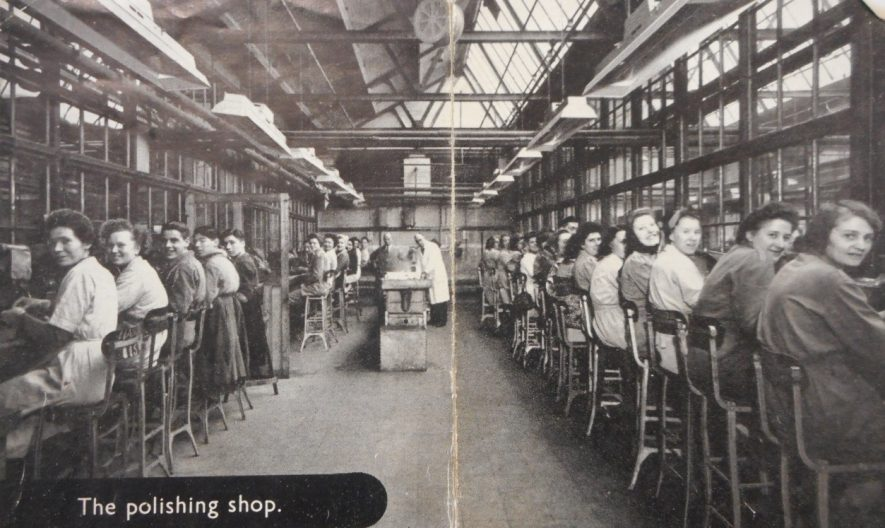 The polishing shop, Henry Griffiths and Sons. | Image courtesy of Richard Neale