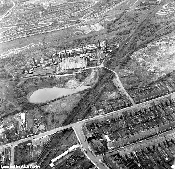 Haunchwood Brick and Tile Works, aerial view. | Image supplied by Daniel Taylor, taken by his Grandfather